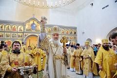 Освящение храма Живоначальной Троицы в Троицке