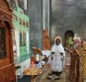 Освящение образа Пресвятой Богородицы Владимирская в новом киоте